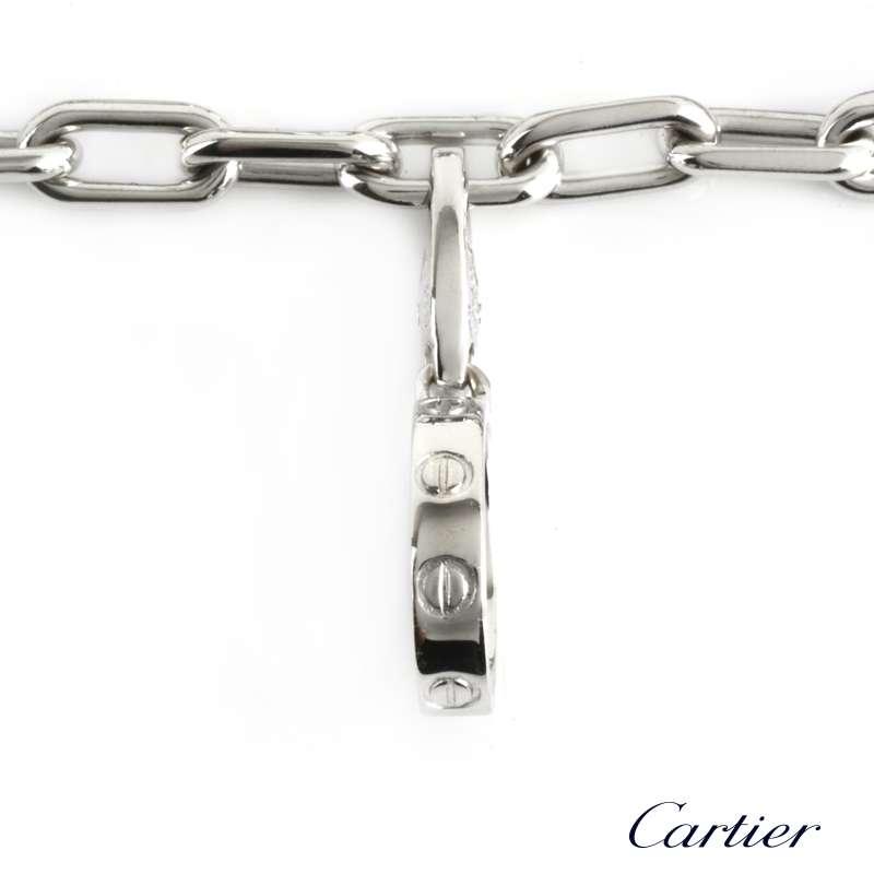 Cartier Infinity Bracelet: Cartier 18k White Gold Charm Bracelet